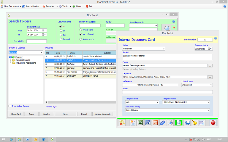 Click to view DocPoint Document Management Software screenshots